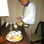champagne offert par la direction pour mon anniversaire