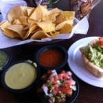 Chips, guacamole and salsa!