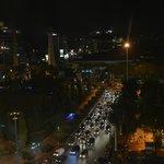 Pemandangan Simpang Lima dari kamar hotel