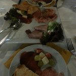 Beautiful cold meat and cheese sharing platter