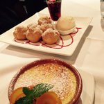 Creme Catalana and Bombes
