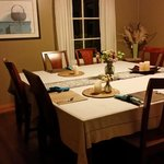 and the clean and peaceful dining room
