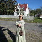 Volunteer in period costume