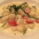 delicious gnocchi in gorgonzola cream sauce