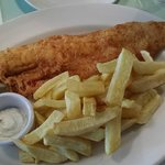 poppies fish & chip=cod large for GBP13.90