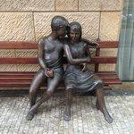 Sweet sculpture near Hotel entrance