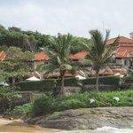 Villas from the beach