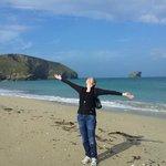 Portreath beach a 8 minute walk away