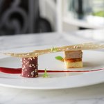Foie Gras Terrine with strawberry puree and vinegar