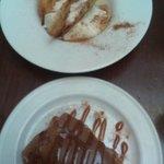 Crema dulce de queso de Zuheros, leche de dátil y torta Inés Rosales y Tarta de la abuela