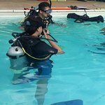 With our Dive Instructor Devon