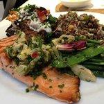 My meal - Salmon plus 3 vegetables