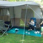 grassy tent site