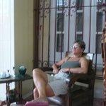 Relax in veranda