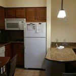 Kitchen area of 1 bedroom suite