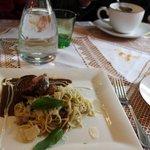 Beef Fillet with Mushroom Noodles and Goose Liver