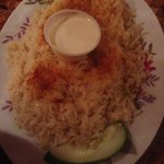This rice is amazing.  Ask for extra of the garlic sauce for leftovers.