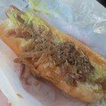 kielbasa w/sauerkraut & spicy mustard