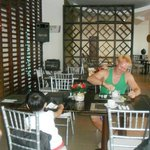 Dining Area - hubby having his welcome coffee