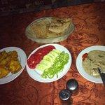 Restaurante África, Luxor, Egito: entrada, pratos frios típicos.