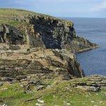 Cliffs of South Ronaldsay along walk back to visitor center