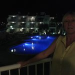 first night we arrived and stepped onto the balcony