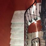 Marble staircase in Hotel Regina