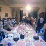 Group dinner on the eve of Etna Marathon.. Dinner prepared by Giovanni's mum :)