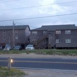 Street side view of motel