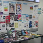 Noticeboard + pamphlets.