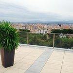 utsikt fra terrassen på hotellet