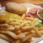 Hamburguesa con queso.
