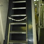 """Stairs going """"up"""" on the Icebreaker Mackinaw"""