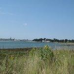 vue sur l'hôtel depuis la baie de Guérande