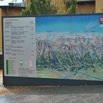 cartel que muestra recorrido del funicular