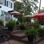 Outdoor patio, historic house