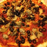 Lactose intolerant?  Order a veggie without cheese!  Mushrooms and black olives.