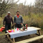 Picnic at Lago Grey with Don Luis & Cristopher