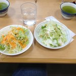 All-you-can-eat salad.  Free green tea.  Anyway, you WILL leave full and satisfied.