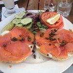 Amazing smoked salmon plate