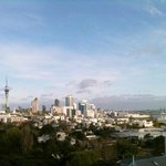 view from room to Auckland city