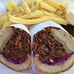 Oinkster pastrami and fries!