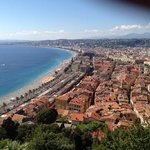 view of Nice from the old fort