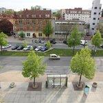 View from room facing the Lendplatz