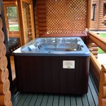 Hot tub - log cabin x