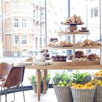 Freshly daily baked pastries, viennoseries, cakes and breads