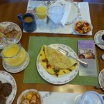 One of the incredible breakfasts' Jenny served us.