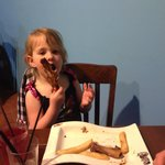 Children enjoying the ribs!
