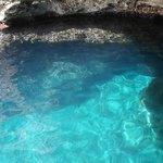 crystal clear warm sea.