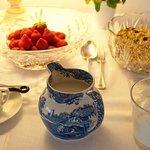 Buffet table at Fairways Bed and Breakfast Crewkerne Somerset. www.fairwaysbandb.co.uk